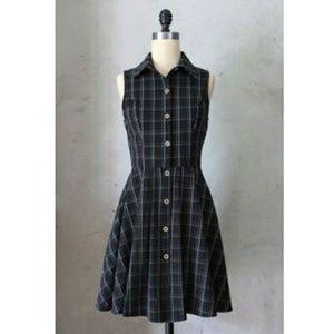Modcloth Fleet Collection Plaid Shirtdress